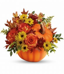 Teleflora's Warm Fall Wishes Bouquet from Gilmore's Flower Shop in East Providence, RI