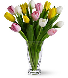 Teleflora's Tulip Treasure from Gilmore's Flower Shop in East Providence, RI
