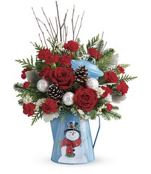 Teleflora's Snowy Daydreams Bouquet from Gilmore's Flower Shop in East Providence, RI