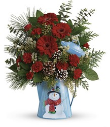Teleflora's Vintage Snowman Bouquet from Gilmore's Flower Shop in East Providence, RI