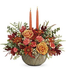 Teleflora's Artisanal Autumn Centerpiece from Gilmore's Flower Shop in East Providence, RI