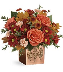 Teleflora's Copper Petals Bouquet from Gilmore's Flower Shop in East Providence, RI