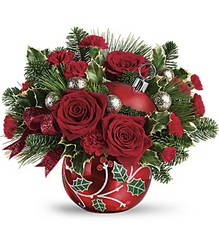 Teleflora's Deck The Holly Ornament Bouquet from Gilmore's Flower Shop in East Providence, RI