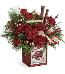 Teleflora's Merry Vintage Christmas Bouquet from Gilmore's Flower Shop in East Providence, RI