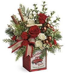Teleflora's Quaint Christmas Bouquet from Gilmore's Flower Shop in East Providence, RI