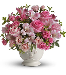 Teleflora's Pink Potpourri Bouquet from Gilmore's Flower Shop in East Providence, RI