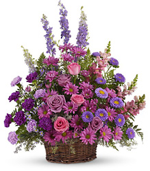 Gracious Lavender Basket from Gilmore's Flower Shop in East Providence, RI