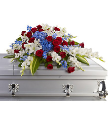 Distinguished Service Casket Spray from Gilmore's Flower Shop in East Providence, RI
