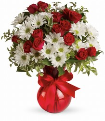 Red White And You Bouquet by Teleflora from Gilmore's Flower Shop in East Providence, RI