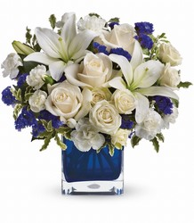 Teleflora's Sapphire Skies Bouquet from Gilmore's Flower Shop in East Providence, RI