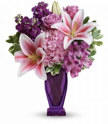 Teleflora's Blushing Violet Bouquet from Gilmore's Flower Shop in East Providence, RI