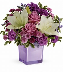 Teleflora's Pleasing Purple Bouquet from Gilmore's Flower Shop in East Providence, RI