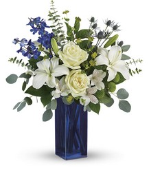 Calming Cobalt Bouquet from Gilmore's Flower Shop in East Providence, RI